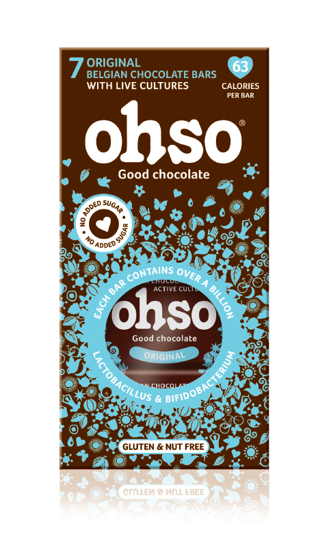Ohso Original No Added Sugar Pro Biotic Belgian Chocolate | Ohso Good Chocolate