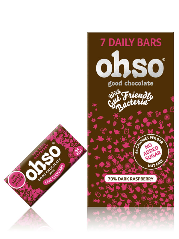 Ohso No Added Sugar Raspberry 72 Cocoa